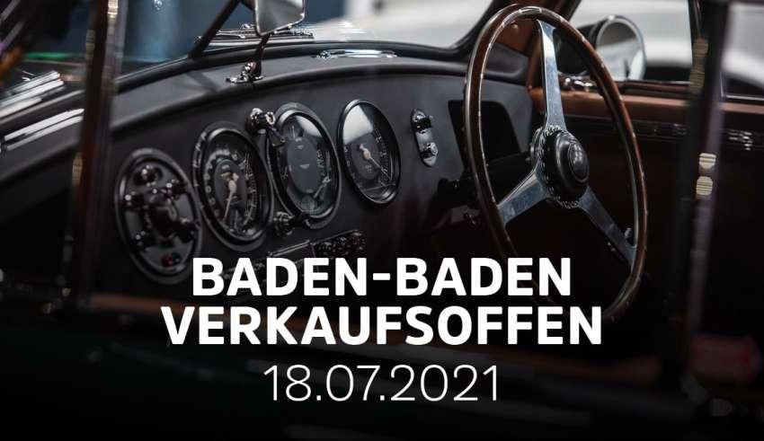 Verkaufsoffener Sonntag in Baden-Baden zum Oldtimer-Meeting