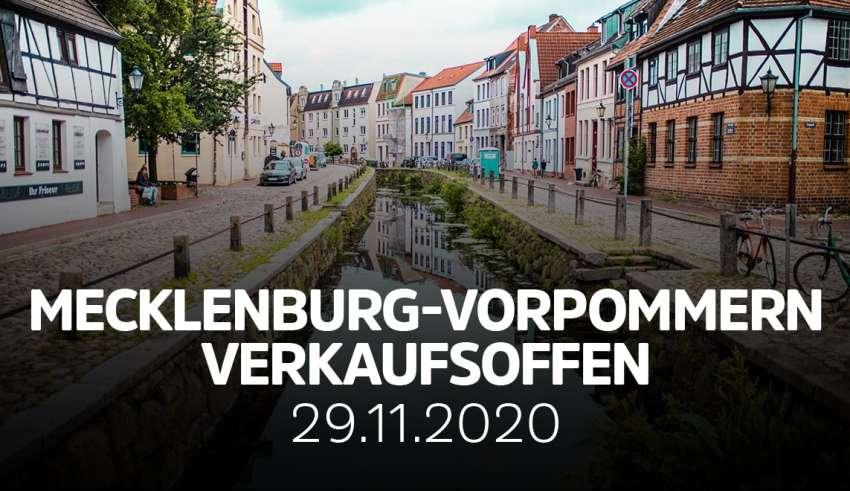 Übersicht verkaufsoffene Sonntage in Mecklenburg-Vorpommern am 29.11.