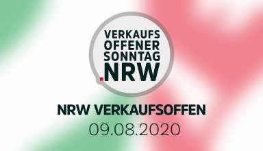 Übersicht der verkaufsoffener Sonntage am 9.8.2020 in NRW