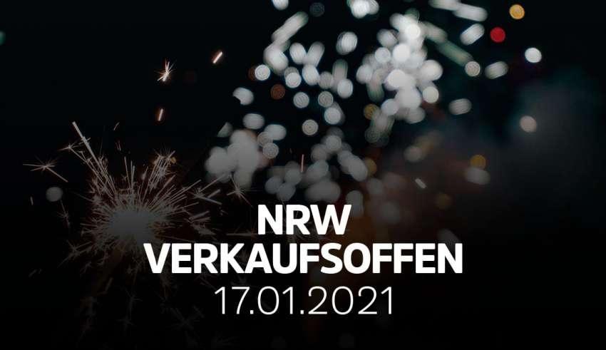 Übersicht der verkaufsoffener Sonntage am 17.01.2020 in NRW