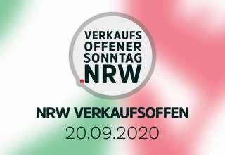 Übersicht der verkaufsoffener Sonntage am 20.09.2020 in NRW