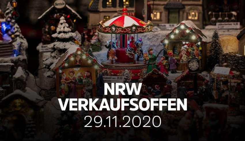 Übersicht der verkaufsoffener Sonntage am 29.11.2020 in NRW