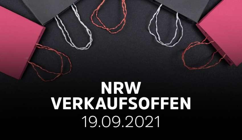 Verkaufsoffener Sonntag in NRW am 19.09.2021