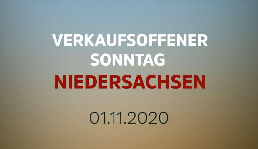 Verkaufsoffener Sonntag in Niedersachsen am 1. November 2020