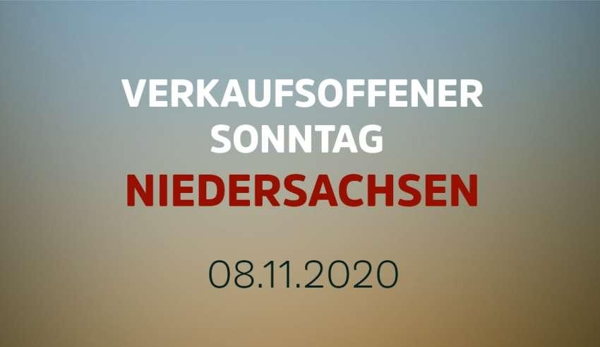 Verkaufsoffener Sonntag in Niedersachsen am 8. November 2020