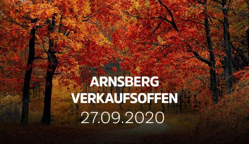 Arnsberg verkaufsoffen zum Arnsberger Herbst am 27.09.2020