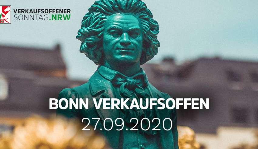 Verkaufsoffener Sonntag Bonn am 27.09.20 - Einkaufen und Bummeln bei der BeethovenRallye