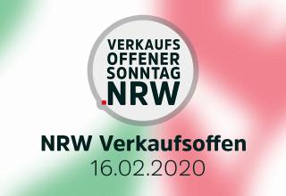 Verkaufsoffener Sonntag NRW am 16.02.2020 Übersicht-16-Februar-20