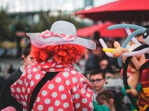 Clown bei Hut Ab in Bielefeld