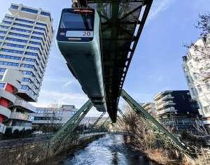 Schwebebahn in Wuppertal 2021