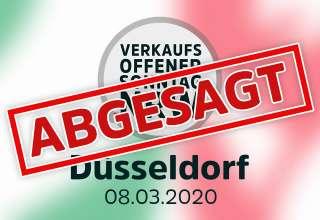 Verkaufsoffener Sonntag am 8.3.2020 in Düsseldorf abgesagt