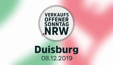 Verkaufsoffener Sonntag Duisburg am 08.12.2019