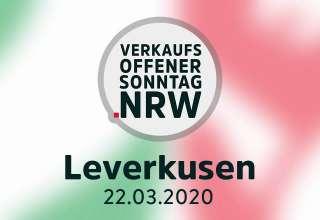 Verkaufsoffener Sonntag Leverkusen am 22.03.2020