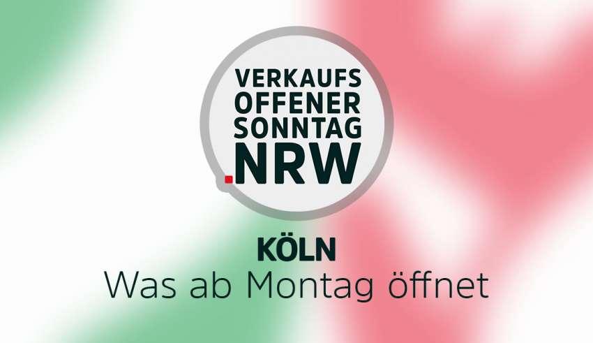 Übersicht der Geschäfte in Köln die ab Montag geöffnet haben